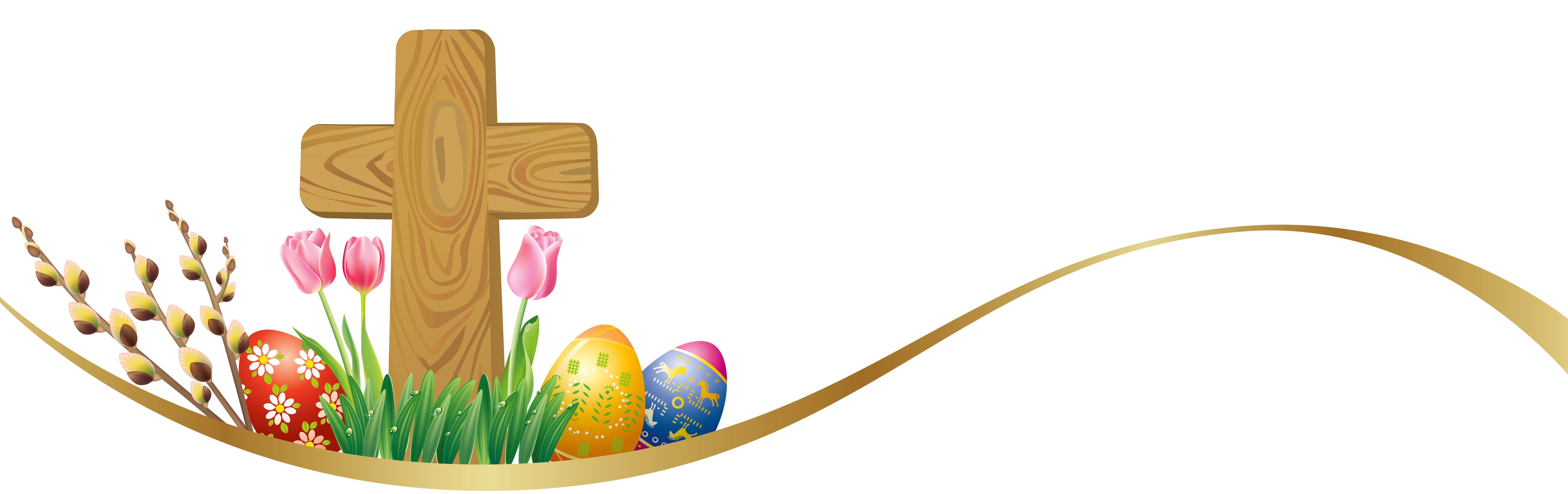 7226x2279 Easter Clipart Cross