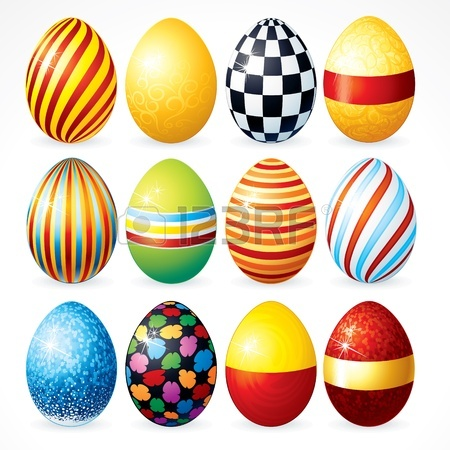 450x450 Isolated Easter Eggs, Happy Easter Vector Clip Art For Your Design