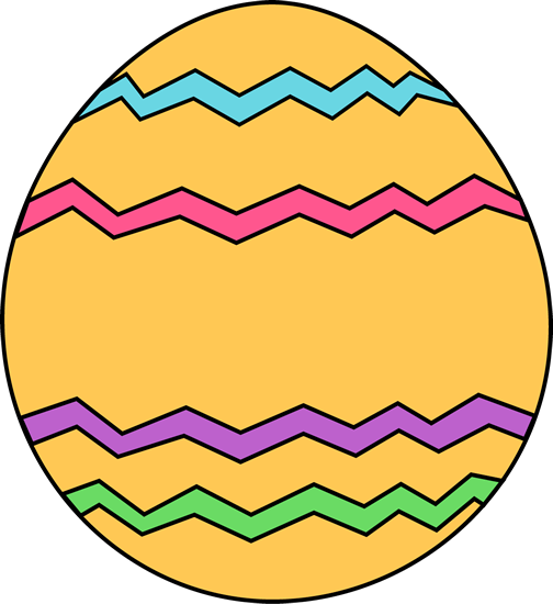 504x550 Yellow Zig Zag Easter Egg Clip Art