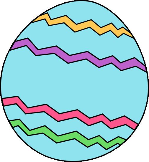 505x550 Blue Zig Zag Easter Egg Clip Art
