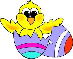 300x245 Cartoon Designs Easter Eggs Clipart Image