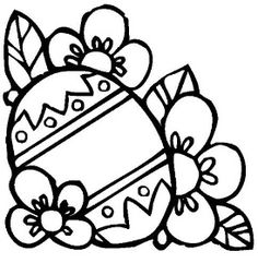 236x241 Easter Egg Clip Art Black And White Coloring Pages
