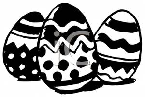 300x200 And White Easter Eggs