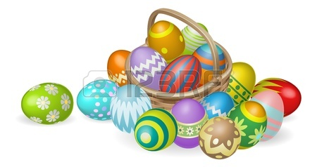 450x238 Easter Background With Decorated Easter Eggs And Easter Eggs