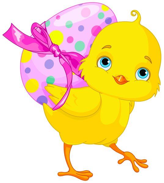 537x600 Easter Egg Easter Chicken With Pink Egg Clipart Obrazki