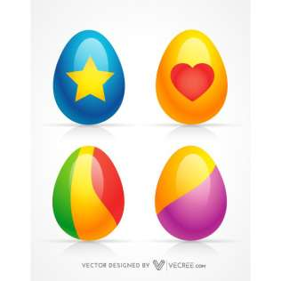 316x316 Colored Easter Eggs Clip Art 123freevectors