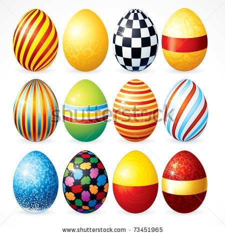 450x470 Easter Eggs Day Clipart