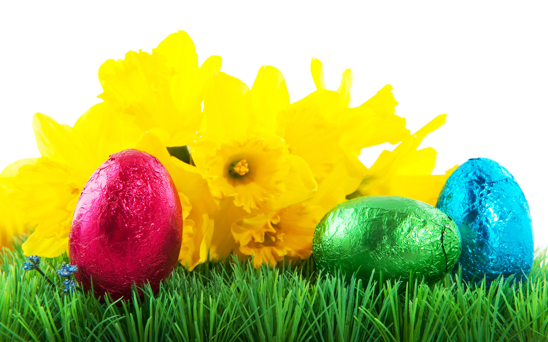 1920x1200 Easter Eggs In Grass Borders Happy Easter 2017