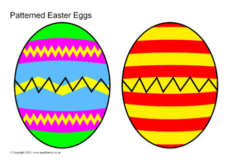 480x339 Patterned Easter Eggs (Sb4193)