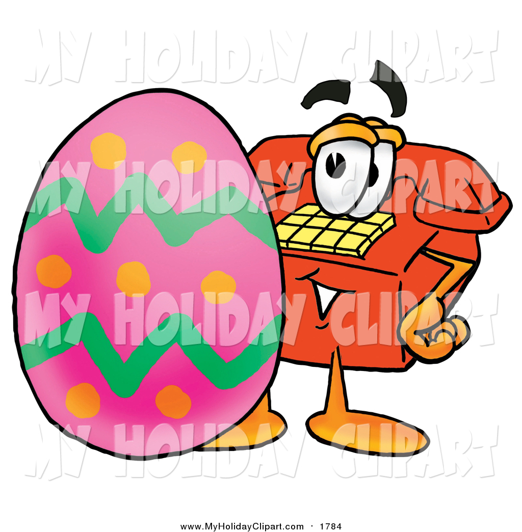 1024x1044 Clip Art Of A Red Telephone With An Easter Egg By Toons4biz