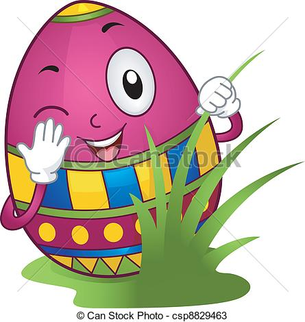 445x470 Easter Bunny Hunt Clipart