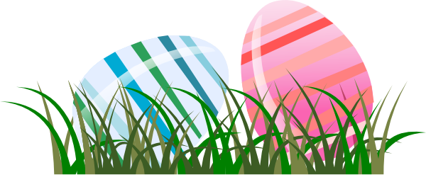 600x257 Easter Eggs In Grass Clip Art