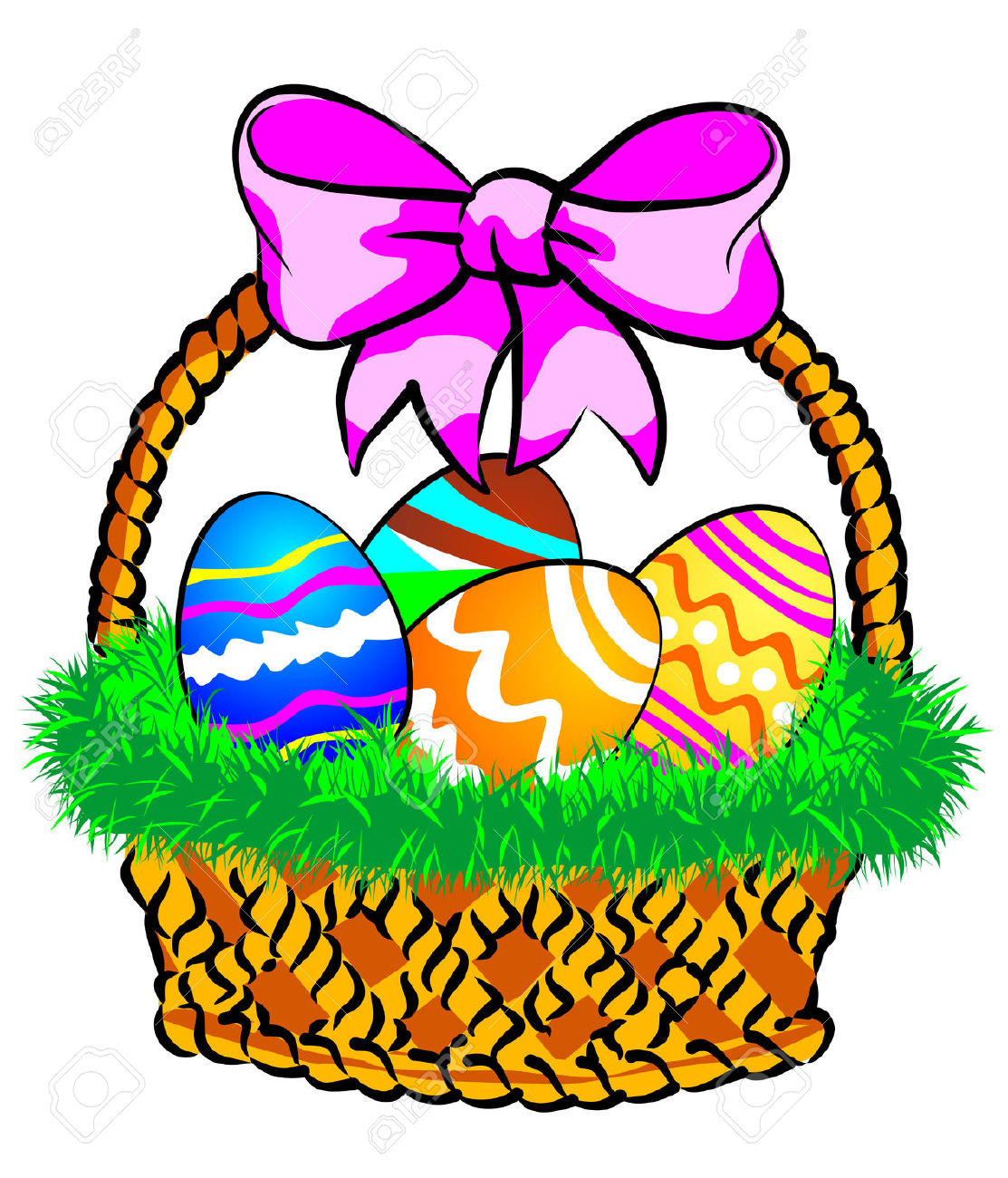 1113x1300 Easter Basket Clip Art