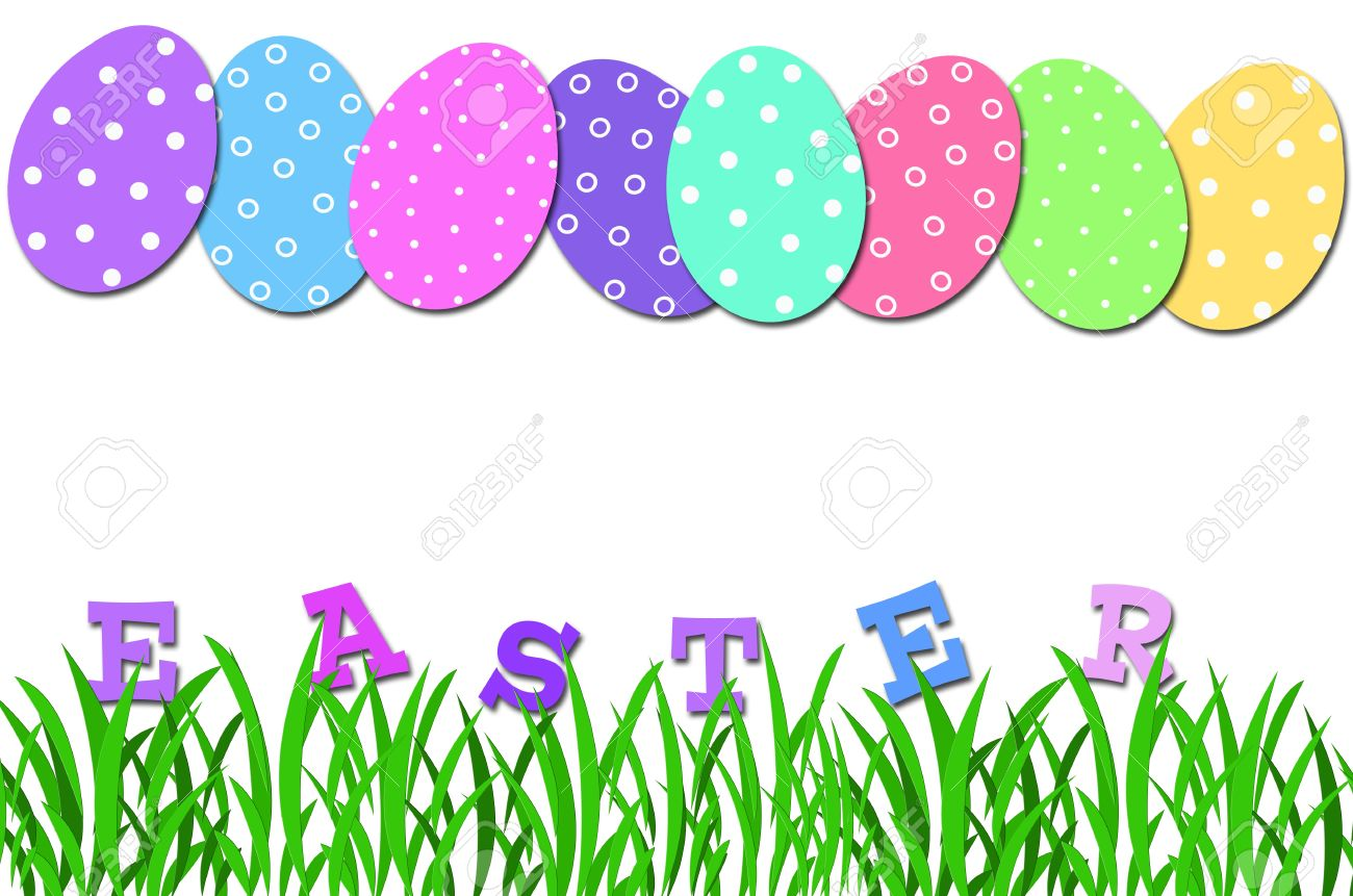 1300x861 Easter Egg Row Clipart