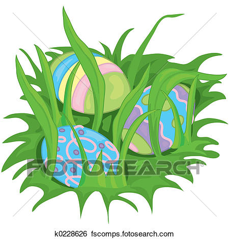 450x470 Stock Illustration Of Hidden Easter Eggs K0228626