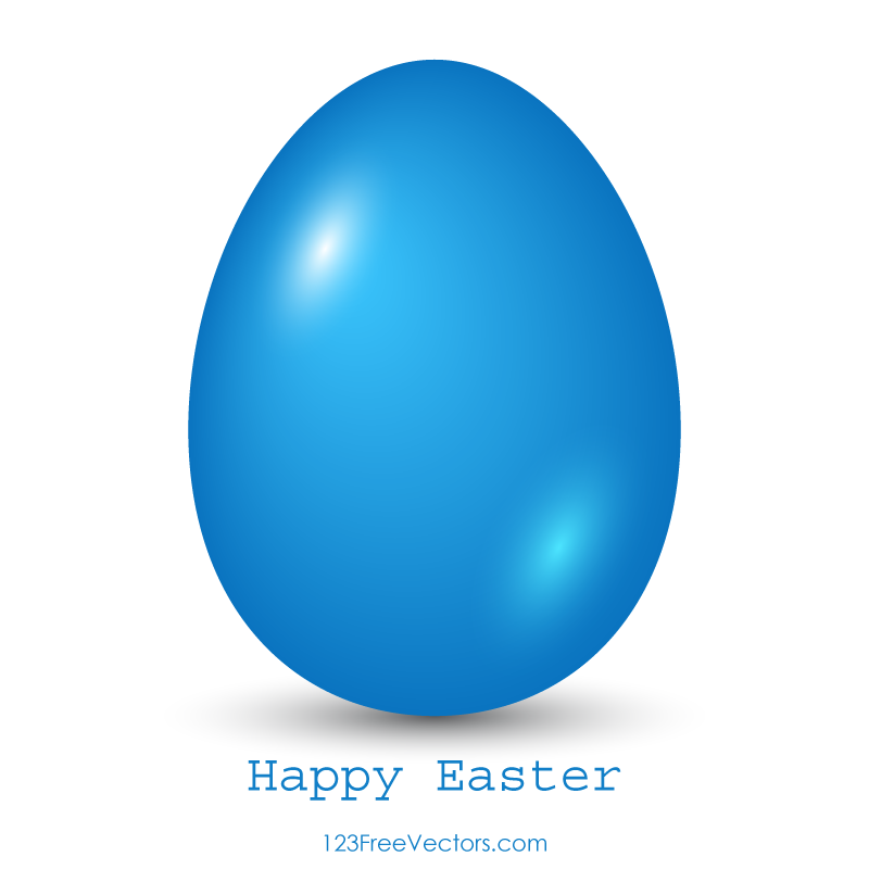800x800 Blue Easter Egg Clip Art 123freevectors