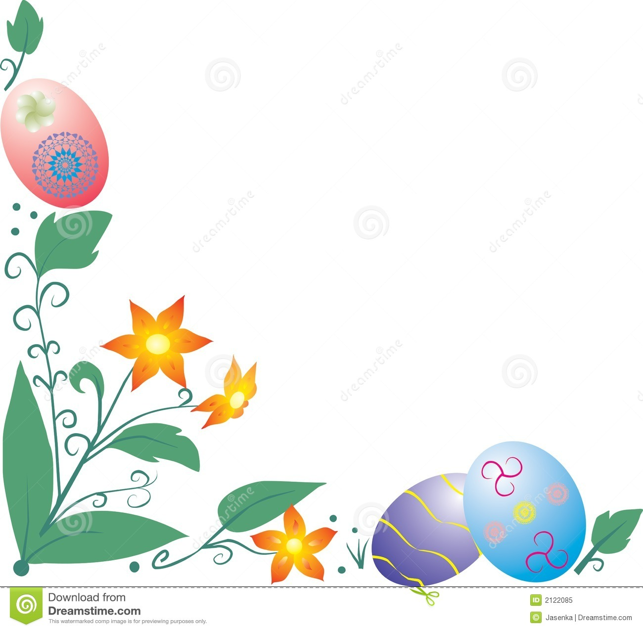 1300x1276 Easter Flowers Borders Clip Art Happy Easter 2017