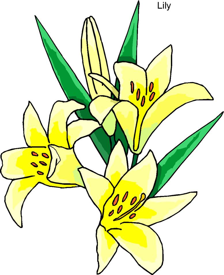 778x952 Easter Row Lilies Clipart