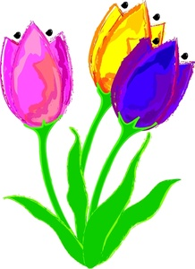 218x300 Tulips Clipart Image