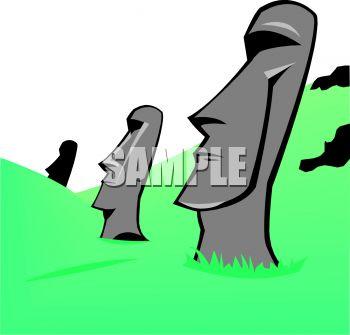 350x335 Easter Island Heads