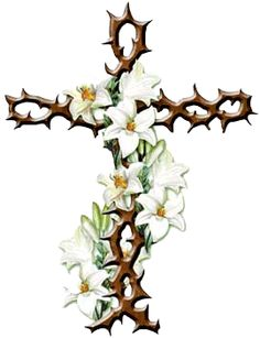 236x307 Easter Lily With Cross Clipart