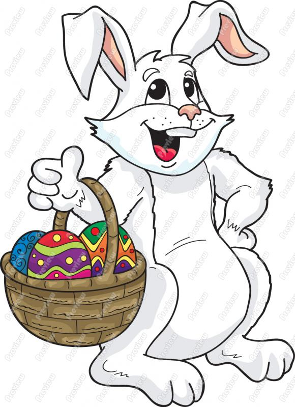 580x800 Clip Art Easter Bunny Chadholtz