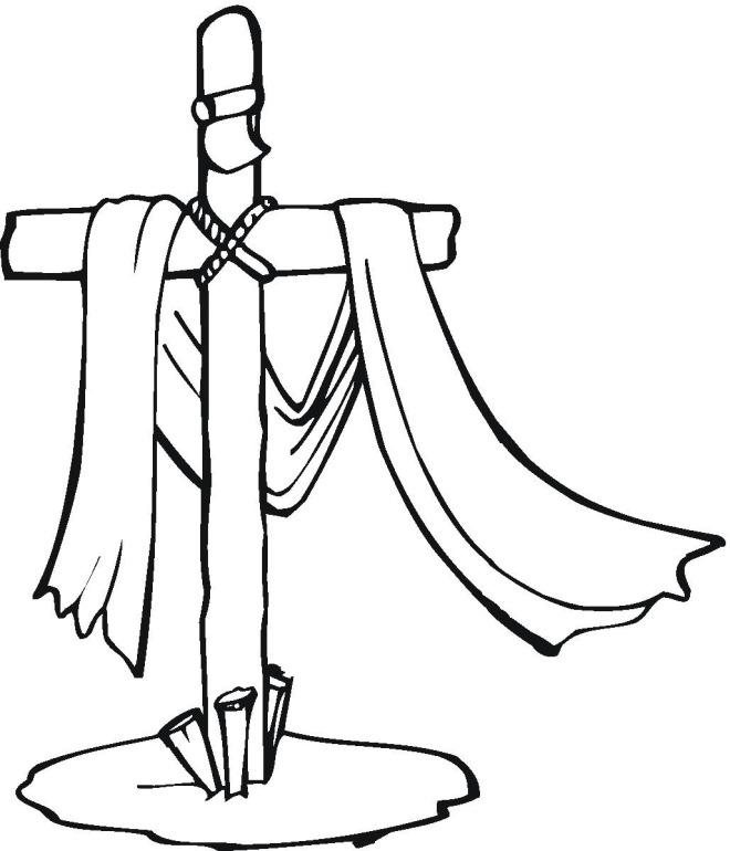 660x770 Religious Easter Clip Art Black And White 101 Clip Art