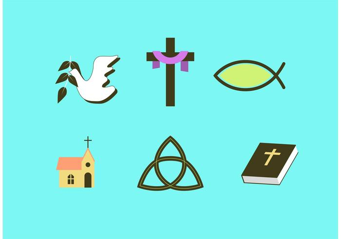 700x490 Religious Easter Vector Set