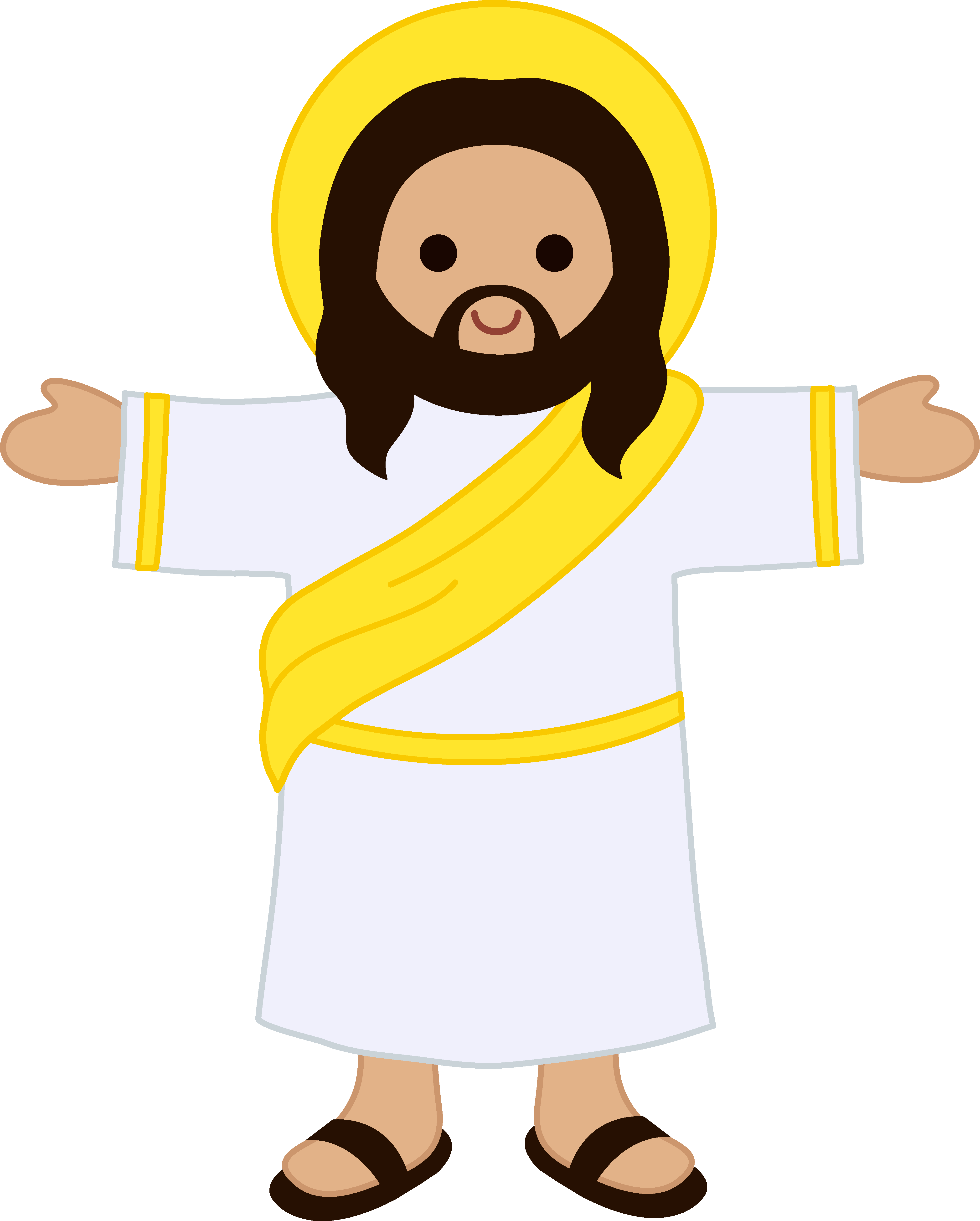 4110x5120 Cute Clip Art Of Jesus Christ
