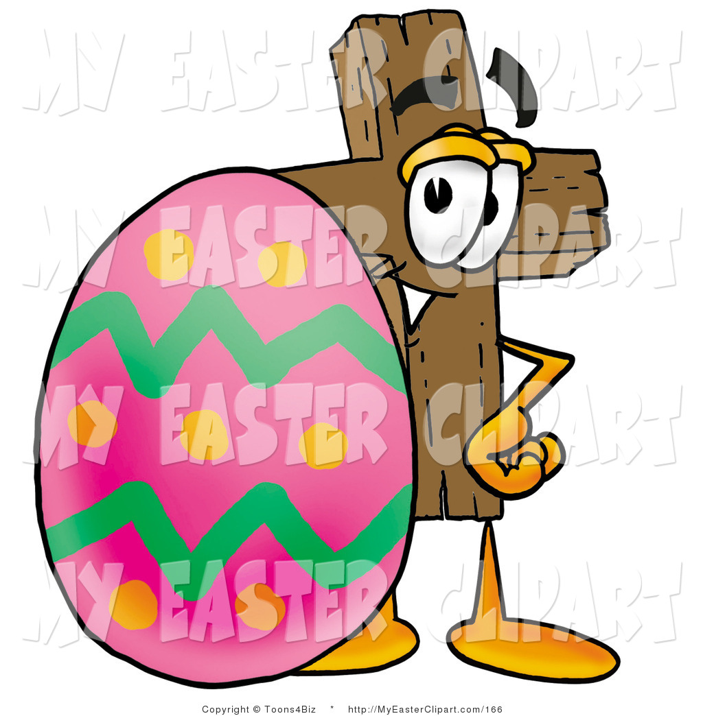 1024x1044 Easter Egg With Cross Clip Art