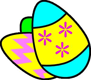 300x263 Easter Eggs Clip Art