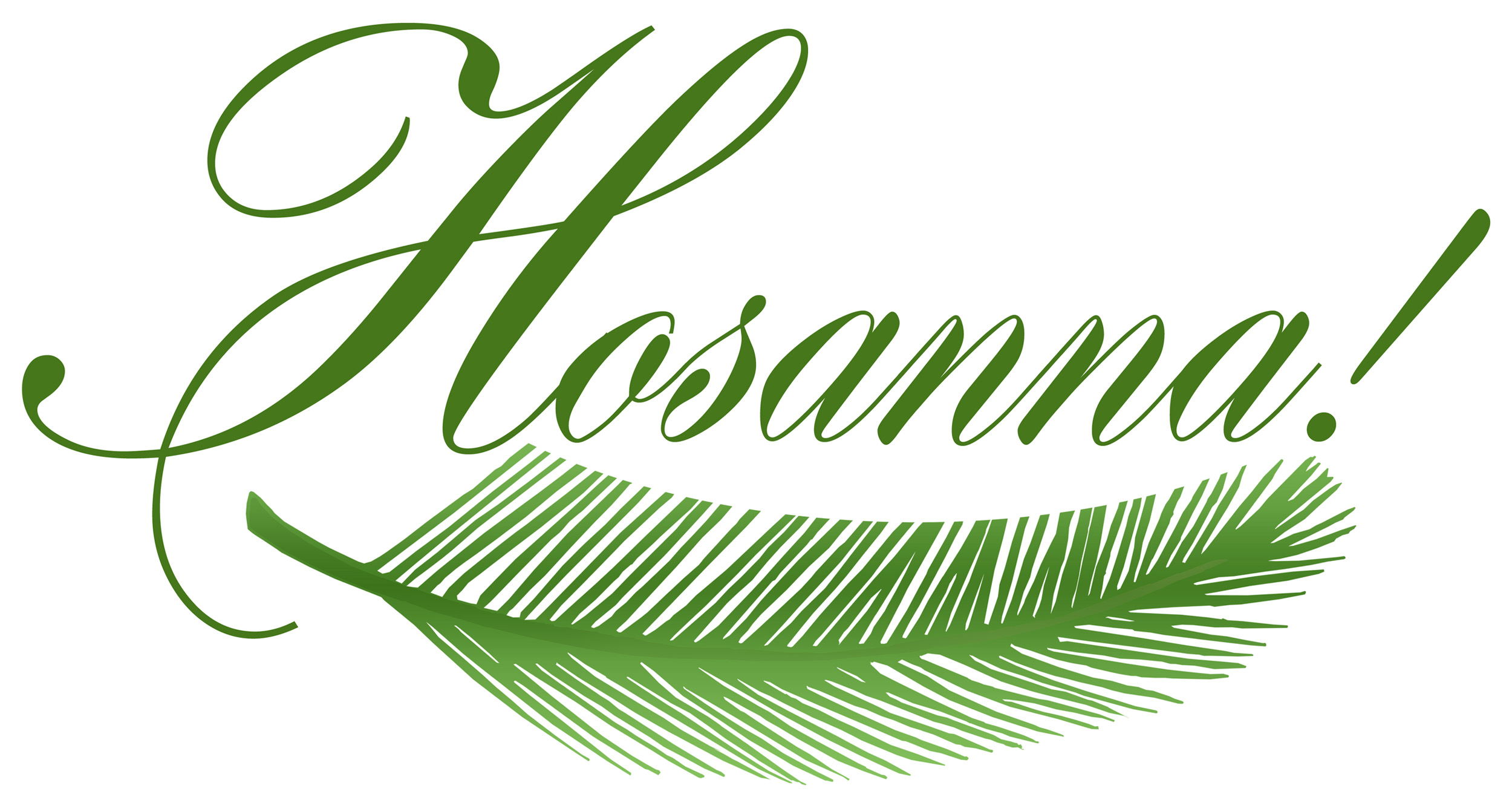 2500x1327 Clipart Palm Sunday
