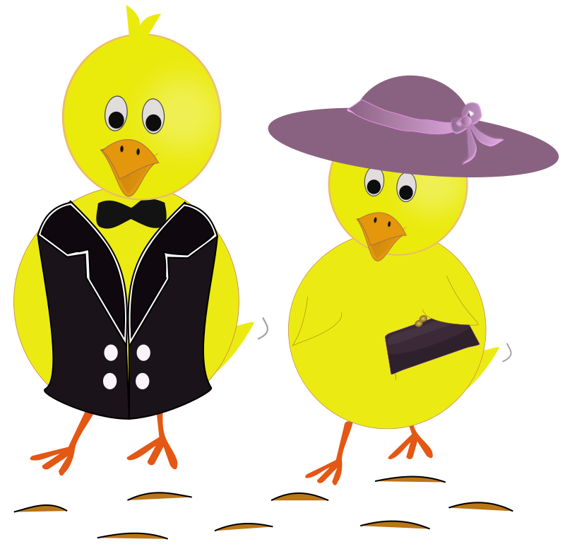 800x777 Easter Sunday Chicks Free Vector 4vector