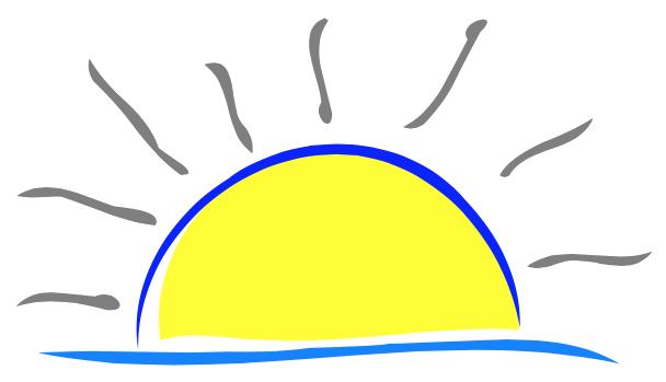 608x349 Sunrise Clipart Morning School