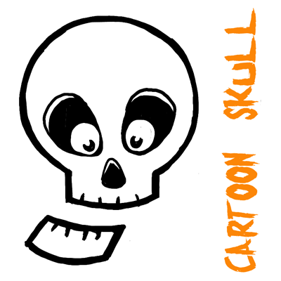 400x400 How To Draw Silly Cartoon Skulls Halloween Easy Tutorial