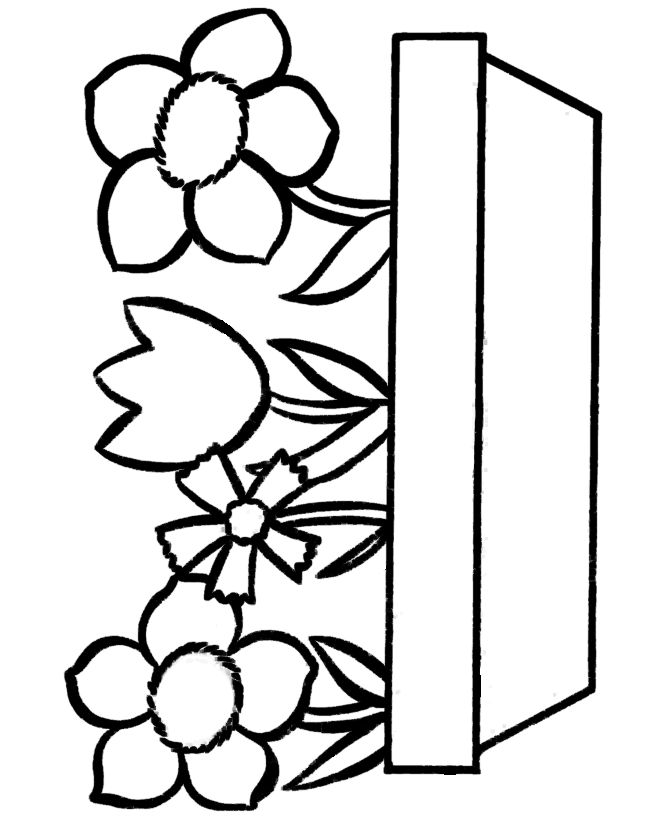 670x820 Download Coloring Pages Draw Easy Flowers