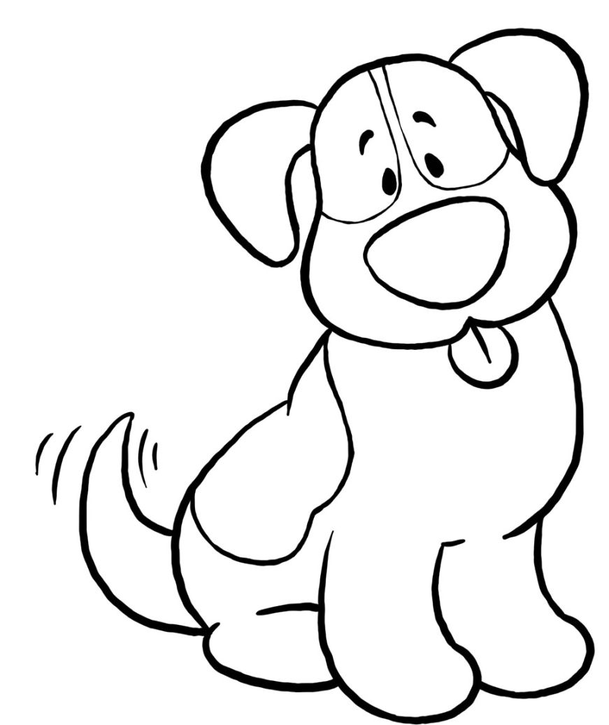 871x1036 Easy Coloring Dog Coloring Pages Kids