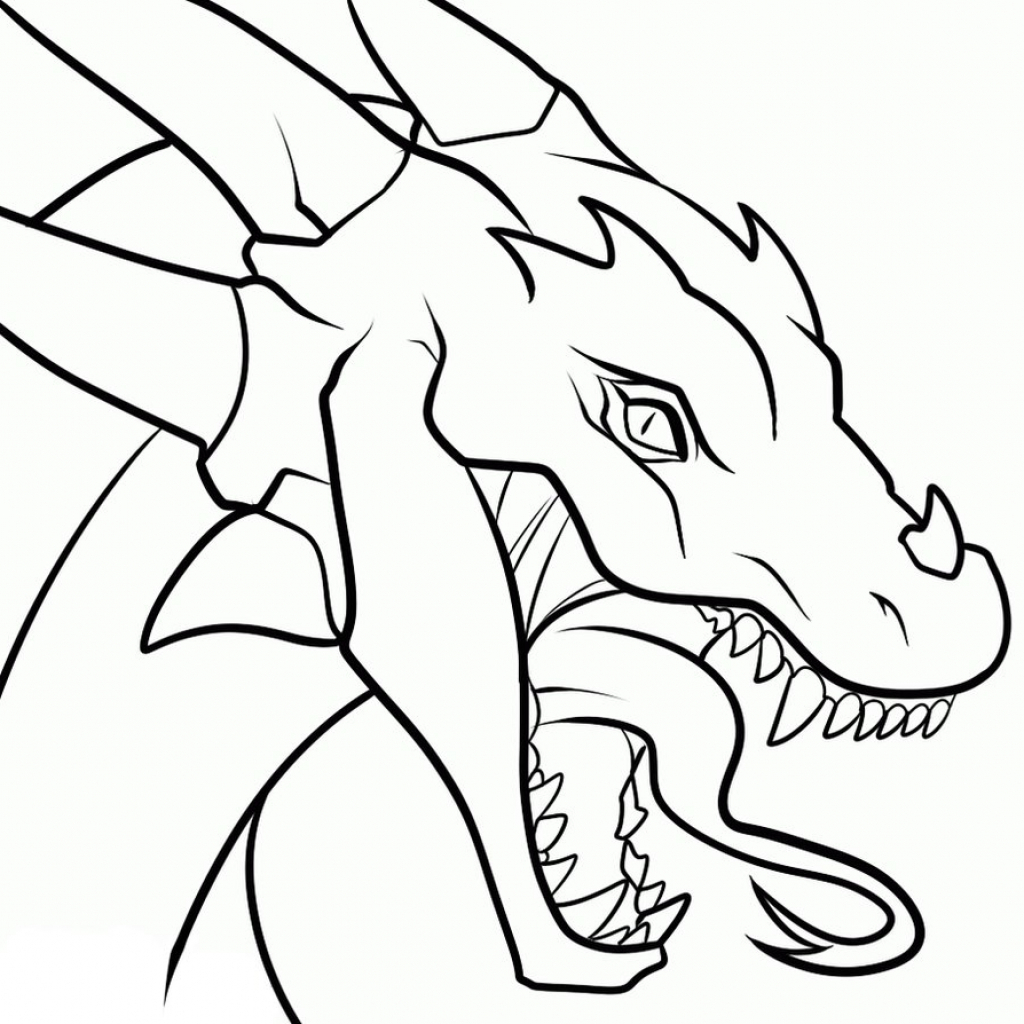 1024x1024 Easy Drawing Of Dragons Drawings Of Dragons Heads Clipart Best