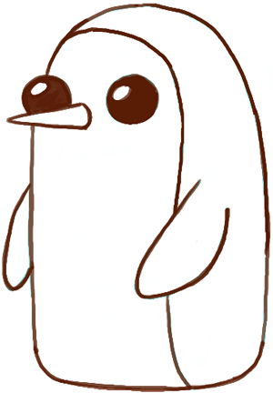 300x432 How To Draw Gunter From Adventure Time With Easy Tutorial