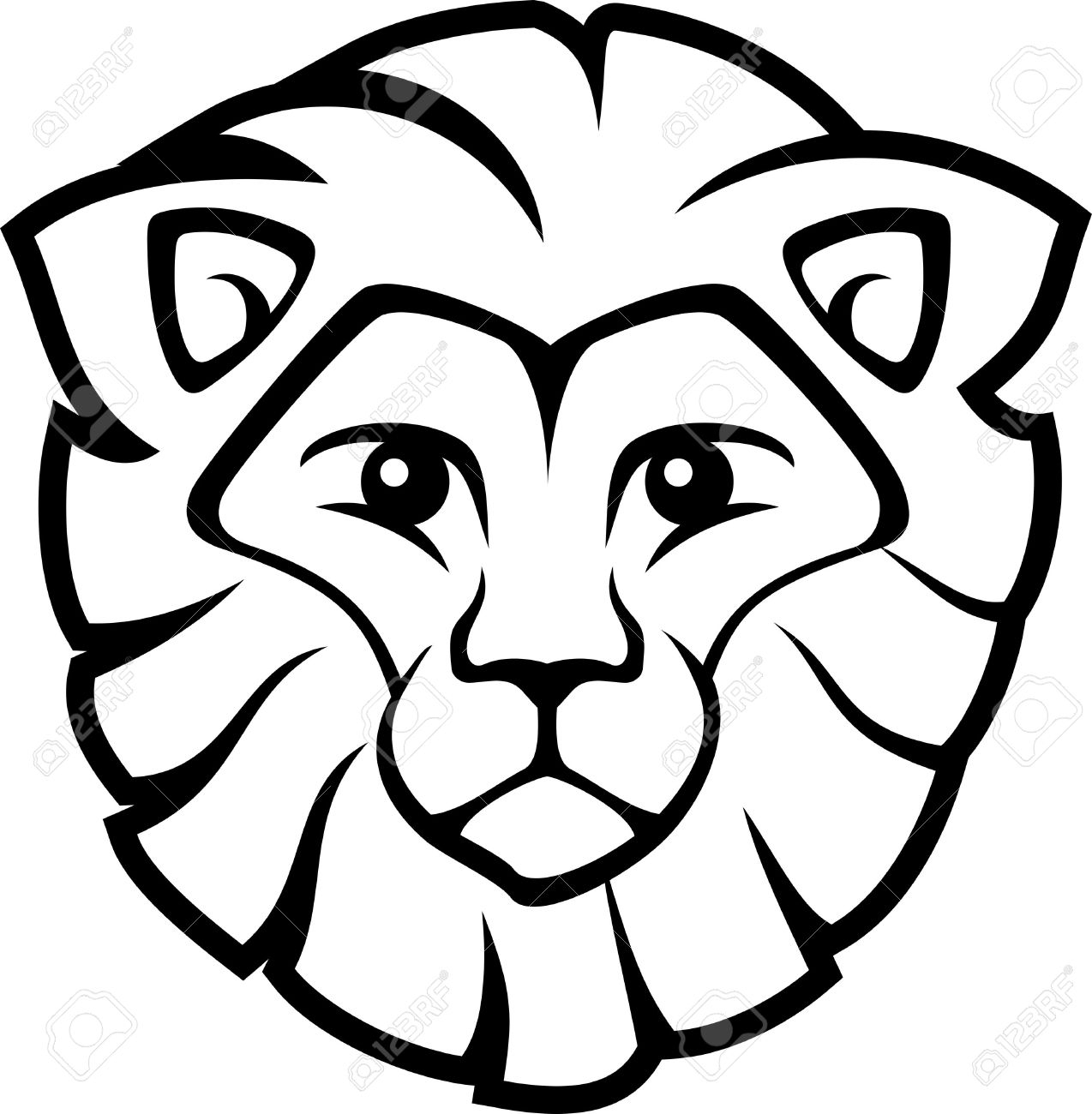 1274x1300 Lion Easy Drawing Face