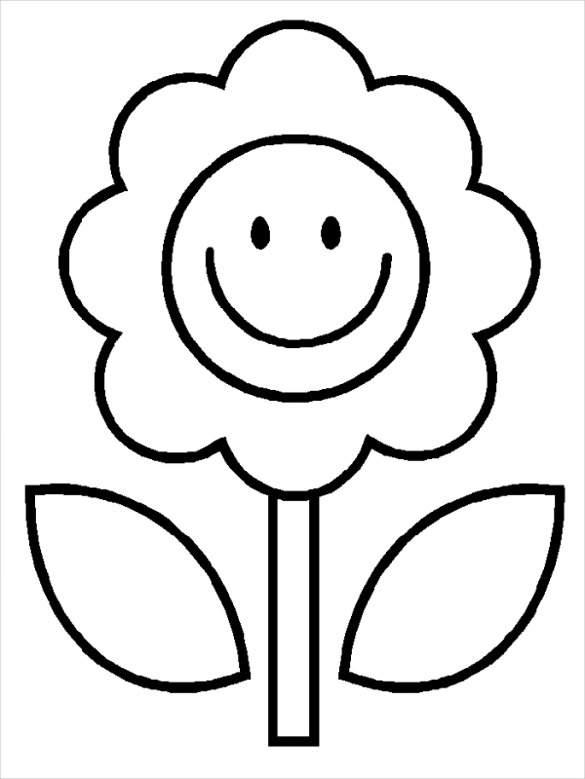 585x779 Coloring Pages Amazing Drawing That Are Easy Sunflower Template