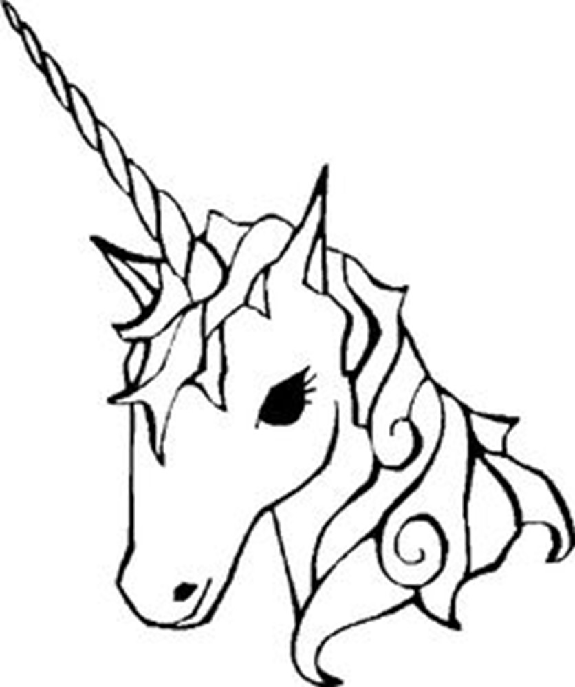 836x998 Coloring Pages Fabulous Unicorn Easy To Draw Drawn 2 Coloring