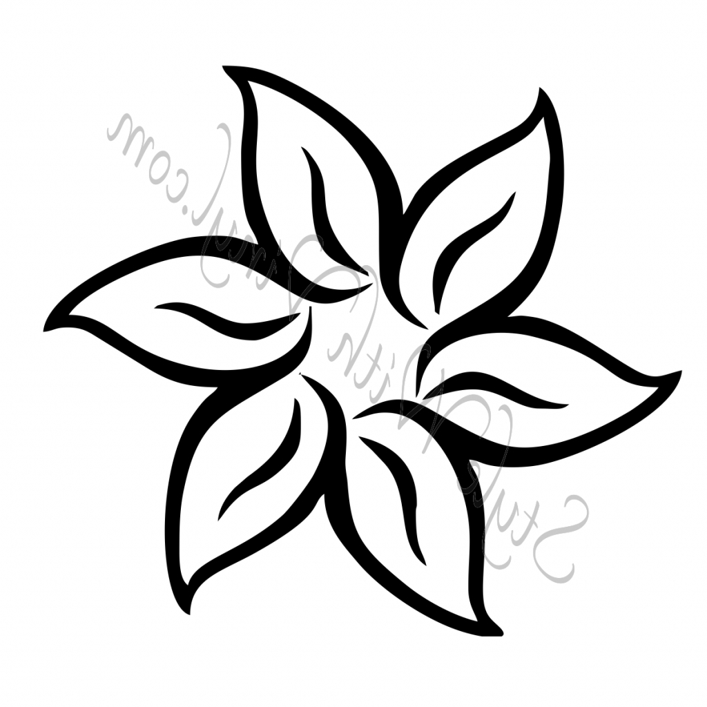 1024x1024 Easy Drawing Of Flower Flower Drawing Clipartsco
