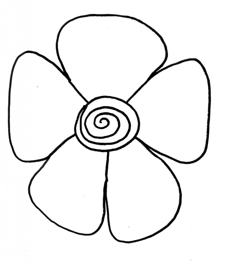 896x1024 Simple Flower Drawing S For Kids Easy Drawings Of Flowers Free