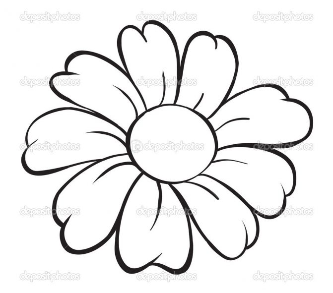 671x591 Coloring Pages Easy Drawing Of Flower Sketches Flowers Coloring