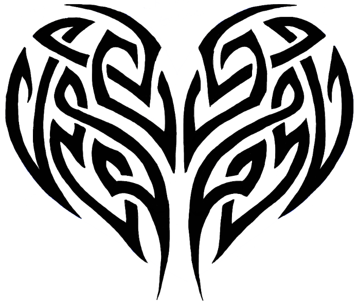 696x589 How To Draw A Tribal Heart Tattoo Design With Easy Step By Step