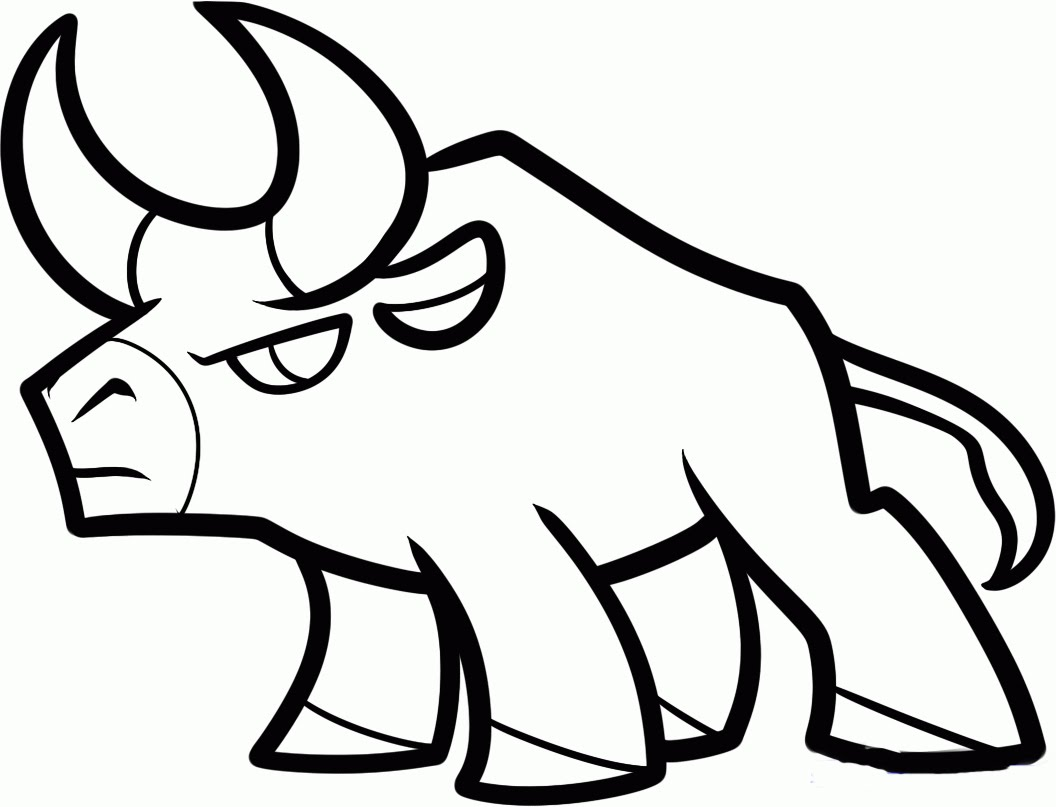 1056x807 How To Draw A Bull