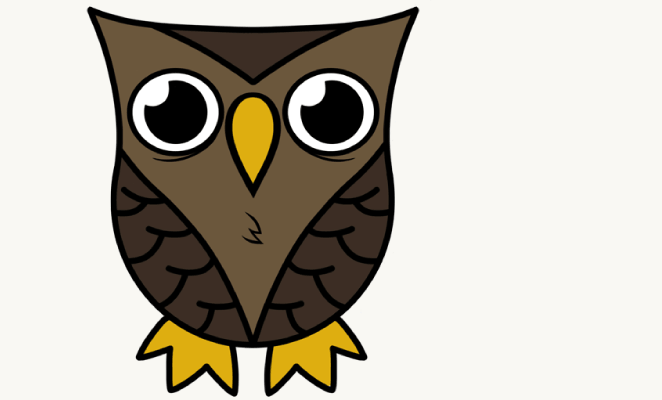662x400 How To Draw A Cartoon Owl In A Few Easy Steps Easy Drawing Guides