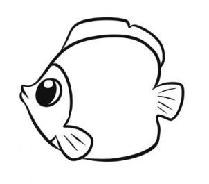 302x265 Best 25+ Easy fish drawing ideas Easy cat drawing