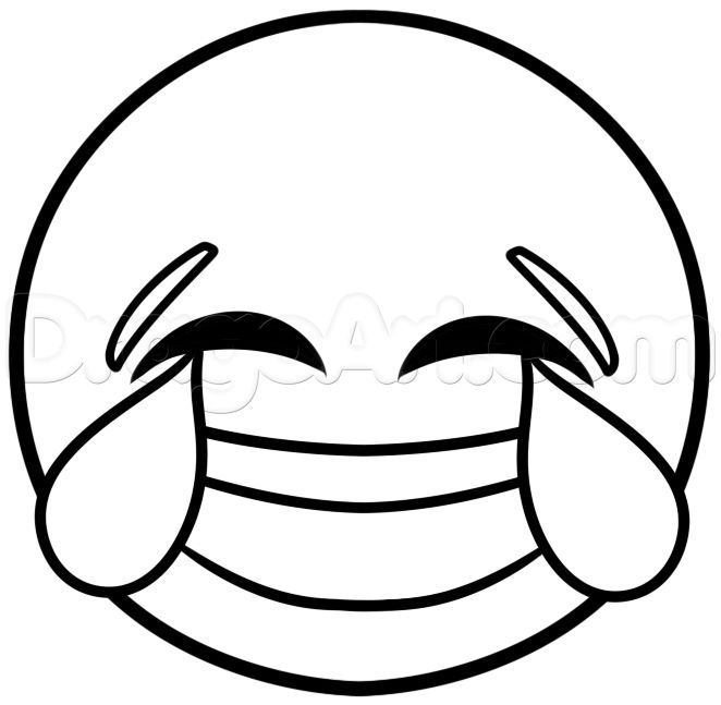 662x647 How To Draw Laughing Emoji Step 4 Favorites Emoji